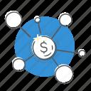 diagram, income, invest, marketing icon