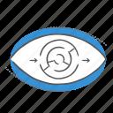 eye, optimization, stratgy, view, vision icon