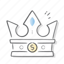 crown, king, queen, royal, success icon