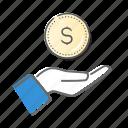 bank, cash, income, success, value icon