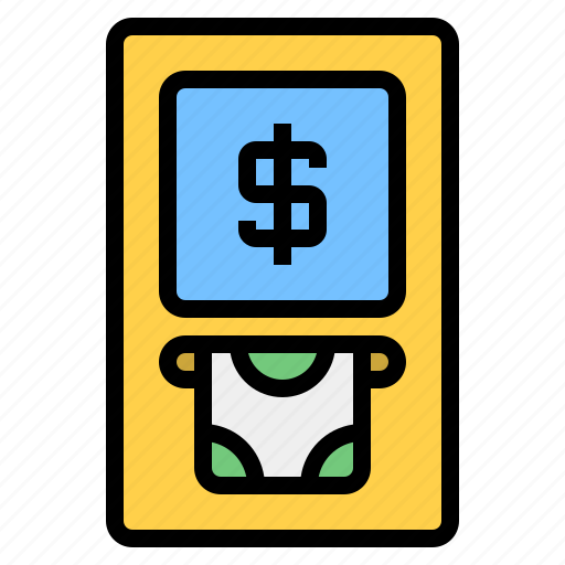 atm, cash, financial, money, transaction, withdrawal icon
