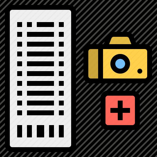 camera, financial, moneyslip, slip, transaction icon