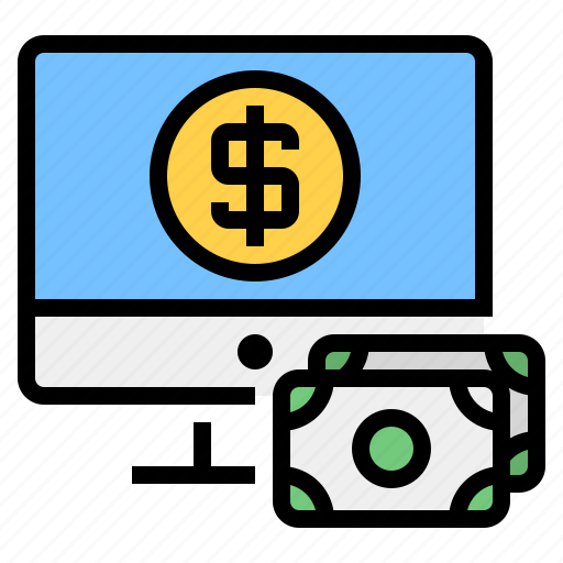 cash, computer, exchange, financial, money, transaction icon