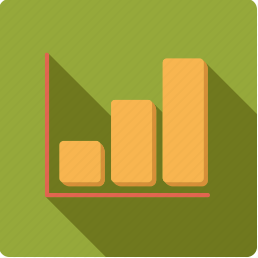 accounting, bar graph, chart, statistics, success icon