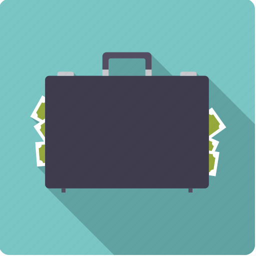 black money, briefcase, cash, corruption, finance, money, suitcase icon