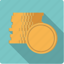 cash, coin stack, coins, finance, golden, money, stack icon