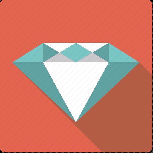 diamond, finance, gem, jewelry, precious, stone, wealth icon