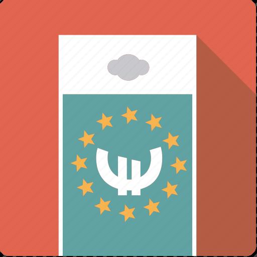 bill, cash, currency, euro, european, finance, money icon