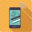 cellular, credit card, finance, mobile, money, payment, smartphone icon