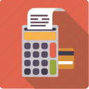 bill, credit card, electronics, finance, money, payment, transaction icon