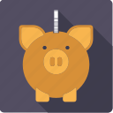 cash, coin, finance, money, piggy bank, savings icon