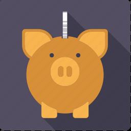 cash, coin, finance, money, piggy bank, savings icon
