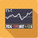 chart, finance, graph, investment, shares, stock chart, stock exchange icon
