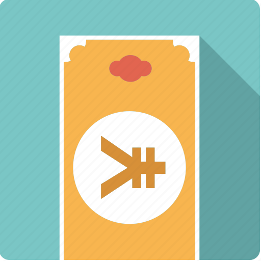 bill, cash, currency, finance, japanese, money, yen icon