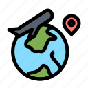 fly, job, location, world icon