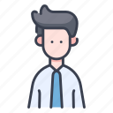 businessman, people, office, man, employee, business, person icon