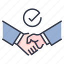 meeting, deal, partnership, agree, handshake, agreement, success icon