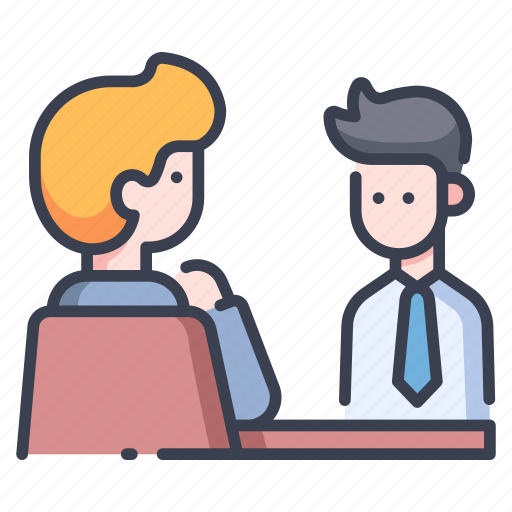 business, employment, interview, job, meeting, office, work icon