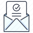 approval, approved, business, document, letter, paper, success icon