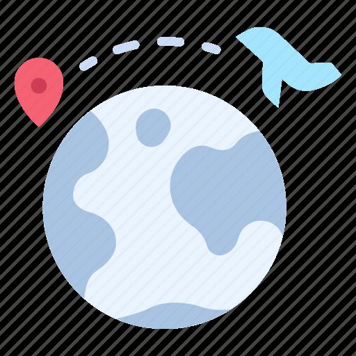 abroad, exchange, foreign, international, job, travel, work icon