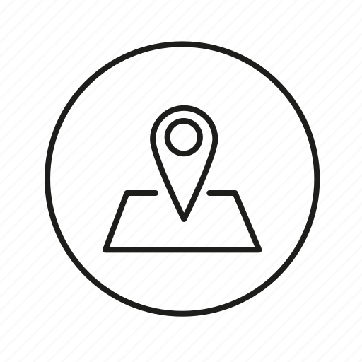 cartography, location, map, pin, way icon