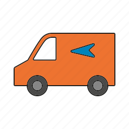 automobile, car, delivery, traffic, transportation, van, vehicle icon