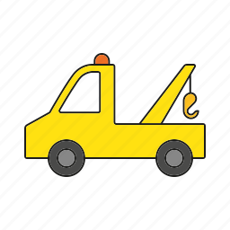 automobile, service, tow truck, traffic, transportation, truck, vehicle icon