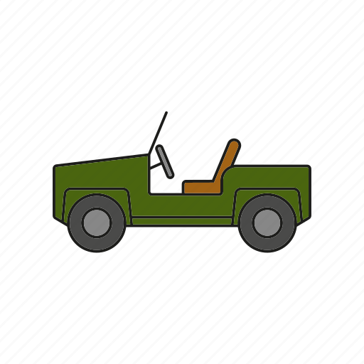 automobile, car, military, off-road, traffic, transportation, vehicle icon