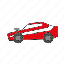 automobile, car, muscle car, traffic, transportation, vehicle icon