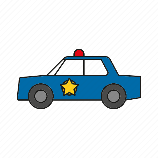 automobile, car, police, security, traffic, transportation, vehicle icon