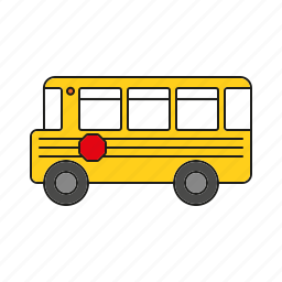 automobile, education, school bus, traffic, transportation, vehicle icon