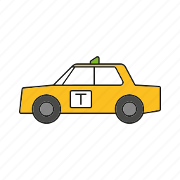 automobile, cab, car, taxi, traffic, transportation, vehicle icon