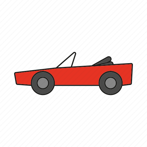 automobile, car, convertible, sports car, traffic, transportation, vehicle icon