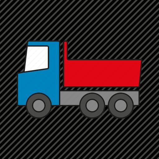automobile, dump truck, dumper, traffic, transportation, truck, vehicle icon
