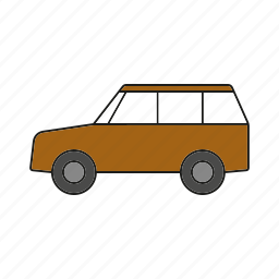 automobile, car, station wagon, traffic, transportation, vehicle icon