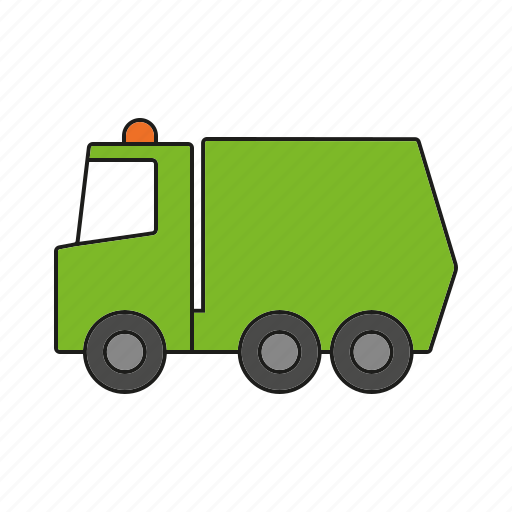 automobile, garbage truck, traffic, transportation, truck, vehicle icon