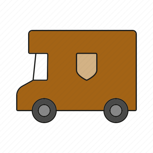 automobile, parcel service, traffic, transportation, truck, van, vehicle icon