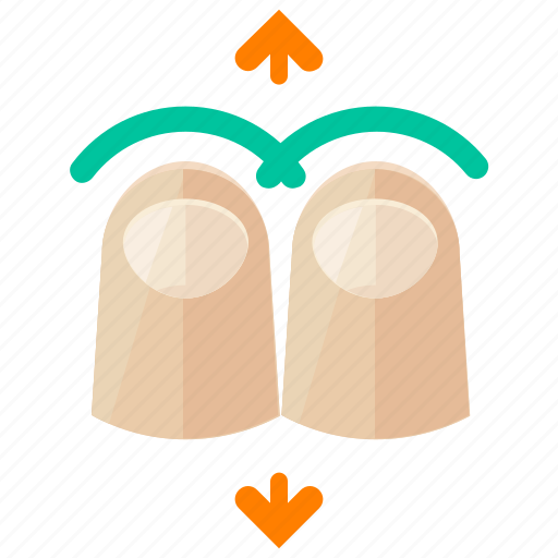 arrows, down, finger, move, touch, two, up icon