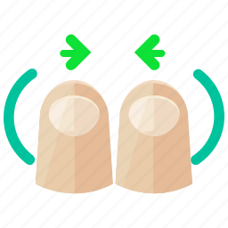 arrows, finger, gesture, out, touch, two, zoom icon
