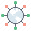 global community, global connection, global network, international network, referral network, worldwide communication icon