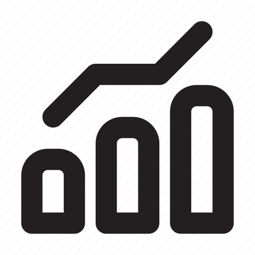 analystics, statistics, stats, trend, up icon