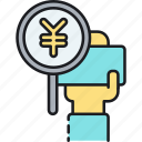 japanese, yen icon