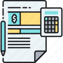 accounting, bill, calculator, invoice, receipt, tax, taxes icon
