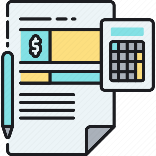 accounting, bill, calculator, invoice, receipt, tax, taxes icon