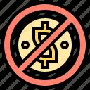 fraud, illegal, laundering, money, prohibit icon