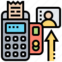 credit, invoice, machine, payment, system icon