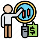 analysis, economic, report, stock, trade icon