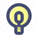 bulb, concept, idea, lamp icon