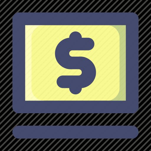 Banking, internet, laptop, money, online icon - Download on Iconfinder