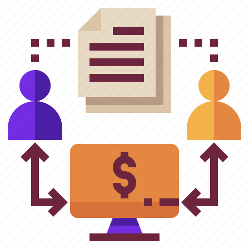 Contract, finance, lending, loan, money, p2p icon - Download on Iconfinder